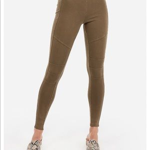 Express Olive Green Leggings